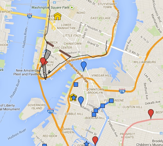 Google Map Of New York City.Interactive Map Revolutionyc